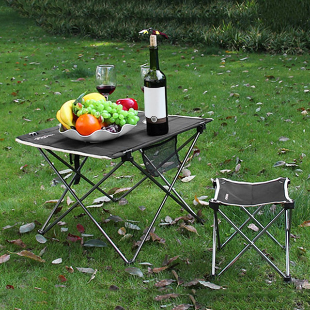 Charmant Outdoor Adjustable Folding Table Portable Picnic Camping Fishing Hiking  Garden Trip Utility Chairs Picnic Table Desk