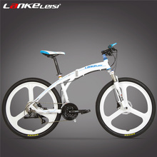 P8 Folding Mountain Bike 26 Inch 27 Speed Oil Disc Brake Integrated Spoke Wheel MTB Portable