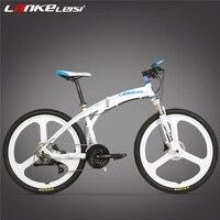 P8 Folding Mountain Bike, 26 Inch 27 Speed, Oil Disc Brake, Integrated / Spoke Wheel MTB, Portable Bicycle, Suspension Fork