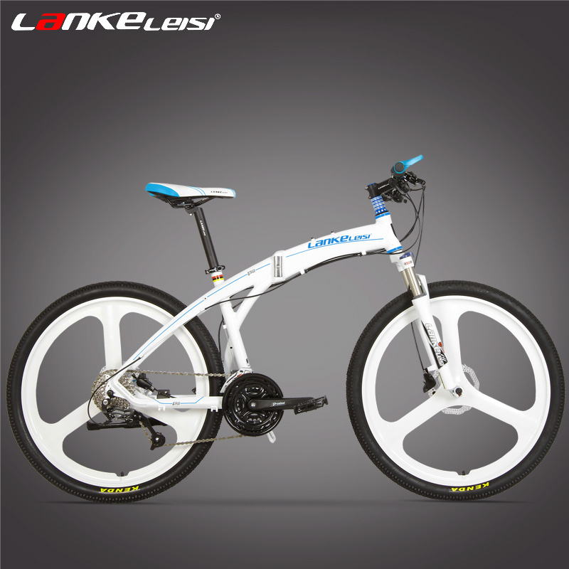 P8 font b Folding b font Mountain Bike 26 Inch 27 Speed Oil Disc Brake Integrated