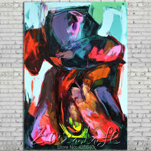 Palette knife painting portrait Palette knife Face Oil painting Impasto figure on canvas Hand painted Francoise Nielly 13