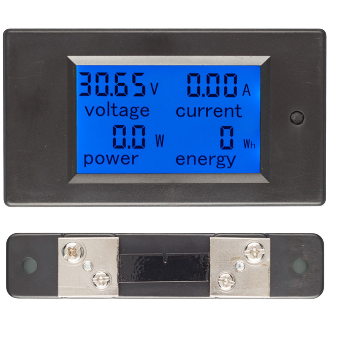 New 50A DC 6.5-100V LCD Combo Meter Voltage Current KWh Watt Panel Meter 12V 24V 48V Battery Power Monitoring + 50A Shunt