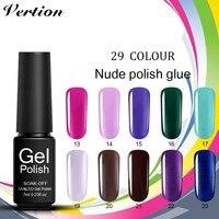 Verntion 29 Colors Vogue Gel Polish Semi Permanent Gel Polish Nail Gel Professional Led Soak Off UV Base Top Gel Varnish