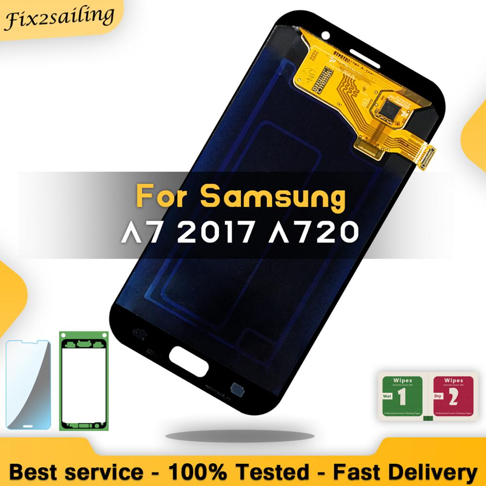 LCD For Samsung Galaxy A7 2017 A720 A720F Display Touch Screen Digitizer Assembly LCD Digitizer Sensor AssemblyLCD For Samsung Galaxy A7 2017 A720 A720F Display Touch Screen Digitizer Assembly LCD Digitizer Sensor Assembly