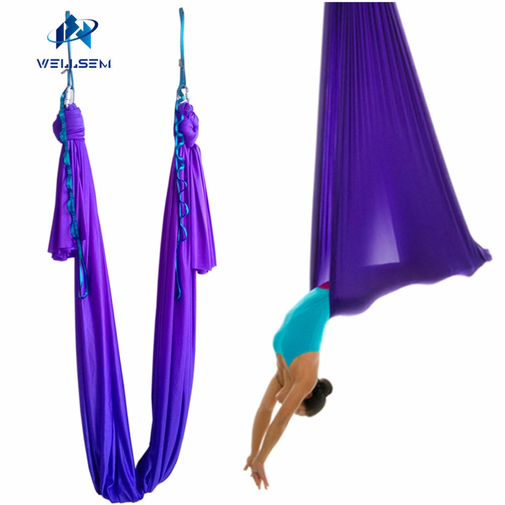 Aerial Anti gravity Yoga Hammock Air Dance Flying Swing Bed Yoga Strap bodybuilding workout Fitness Equipment