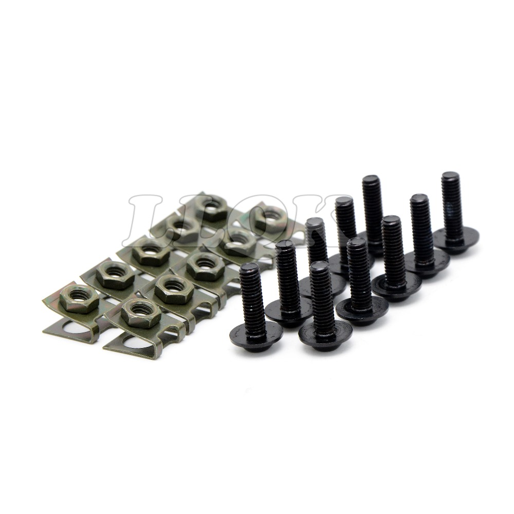 10pcs 6mm CNC Motorcycle Fairing body work Bolts Screws For BMW F650GS 2008 - 2012 Ducati Monster S4/Monster S4R 2001-2006