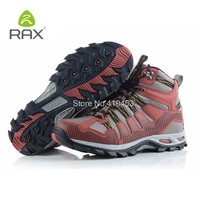 Rax Outdoor Sports Mountain Mens Shoes Leather Waterproof Hiking Shoes Men Lightweight Trekking Hunting Boots Top Quality D0547