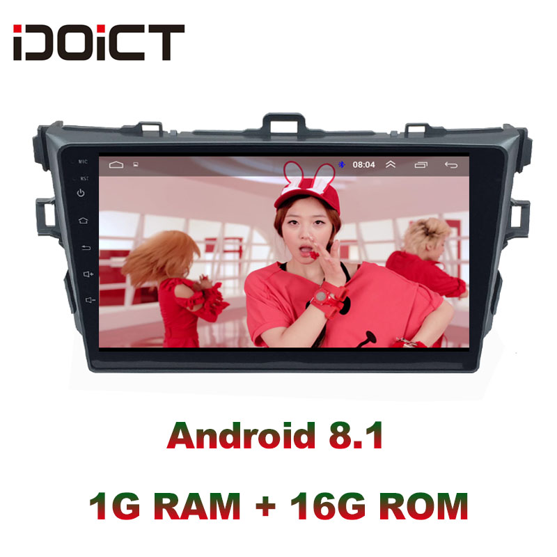 IDOICT Android 8.1 Car DVD Player GPS Navigation <font><b>Multimedia</b></font> For <font><b>Toyota</b></font> <font><b>Corolla</b></font> Radio 2008-2013 car stereo Bluetooth image