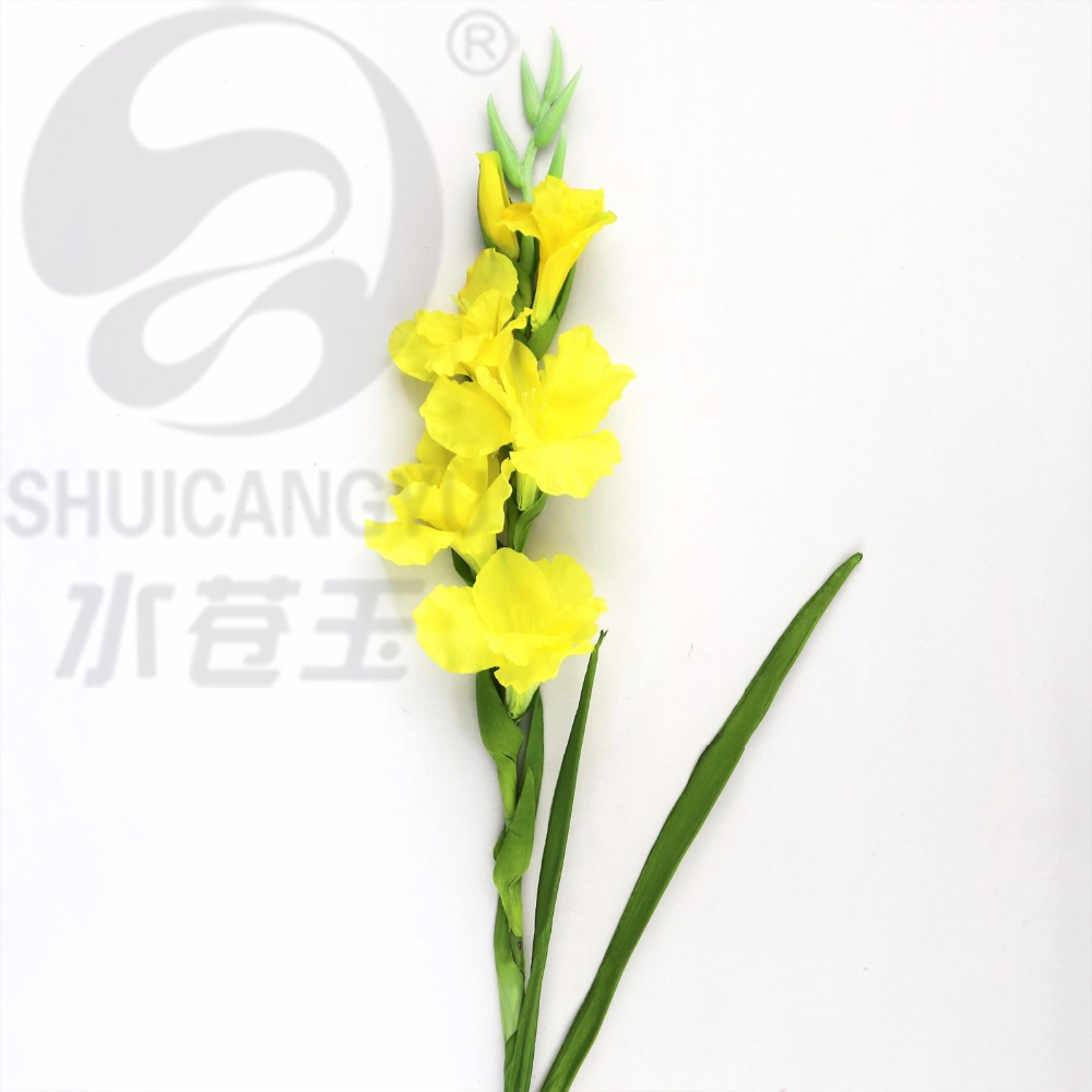 SHUICANGYU Artificial Flowers Vintage Elegance Realistic Gladiolus Flower Branch Living Room Decoration Decorative 10 pcs lot