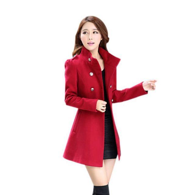 2017 Female Sweet Stand Collar Women's Down Jacket Women Clothing Winter Coat Women Solid Long Sleeve Coat 5