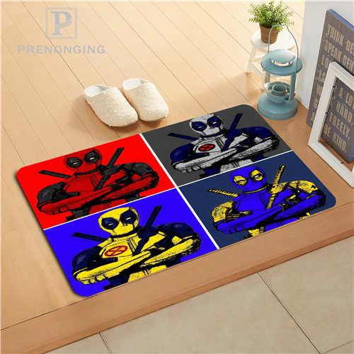Custom Deadpool Marvel Doormat Print slip-resistant Mats Floor Bedroom Living Room Rugs 40x60cm 50x80cm Free Shipping 171128-13