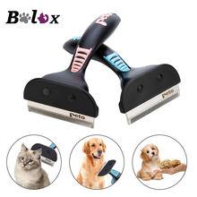 Cão de estimação remoção do cabelo escova pente para pet cat grooming ferramentas cabelo derramamento trimmer pente cão mais limpo