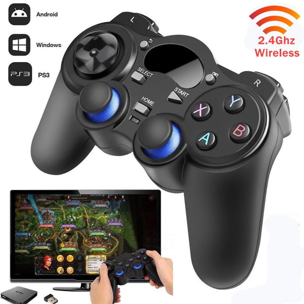 Gaming Console Joystick Game pad 2.4GHz Wireless Game Controller Gamepad Fit For AndroidTableTV boxSmart TV and For PC PS3