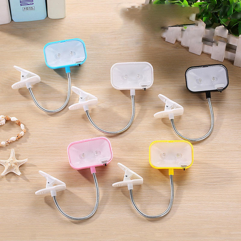 New Mini Led Book Light 5colors Small Clamp Reading Lamp Can Distort Nightlight Creative Reading Lamp Bedside Led Lamp Luminaria Matching In Colour