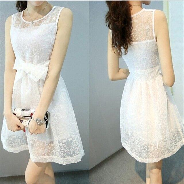 849d3e081d Color blanco chica verano vestidos de fiesta espalda abierta mujeres vestido  elegante blanco elegante del cordón