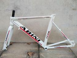 Stock limitied Abine 700c * 51cm Marco de aleación de aluminio con horquilla delantera para camino freno de disco de bicicleta Marco de bicicleta