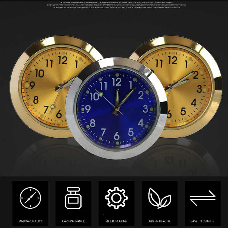 Универсальные 2 в 1 автомобильные часы приборной панели масляные духи Автомобильные вентиляционные ароматерапевтические часы Авто внутренние вентиляционные часы с зажимом вкус