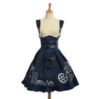 Elegant Gothic Steampunk Dress Vintage Women Victorian Period JSK Lolita Embroidered Lace up Corset Suspender Costume Cosplay