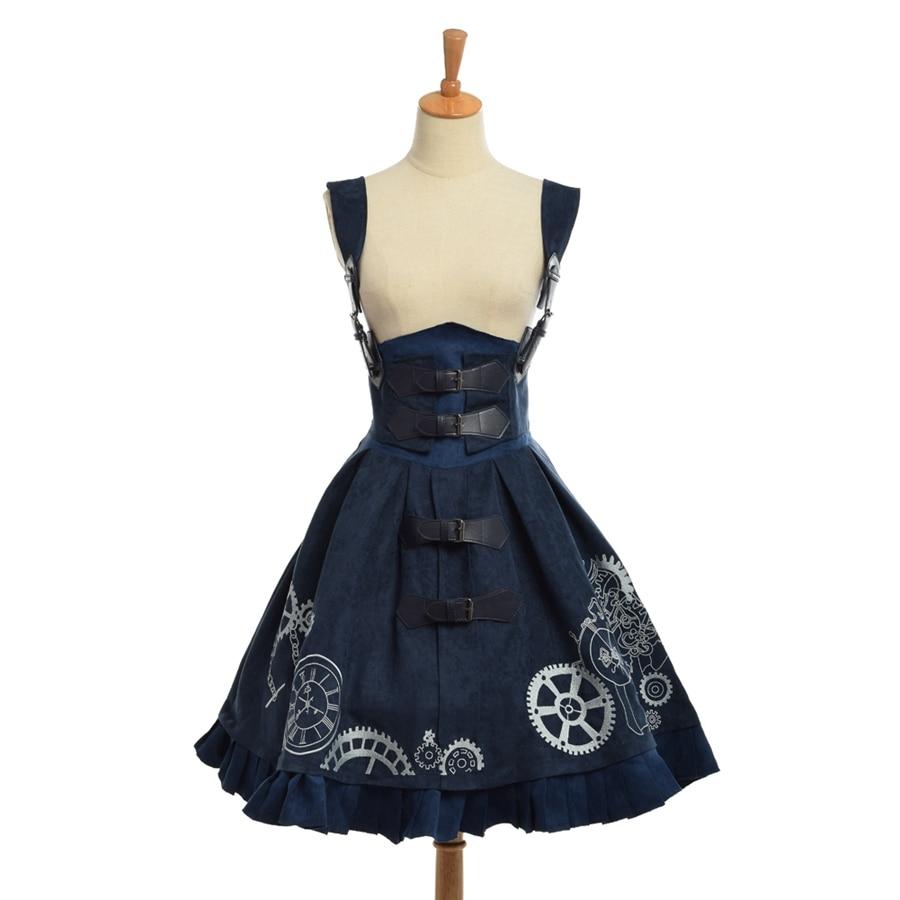 Femmes Lolita Cosplay Steampunk Robe marron Bleu Gothique Corset Dentelle Période Jarretelles Brodé Jsk Vintage Élégant Costume up Victorienne F8qIfZBw