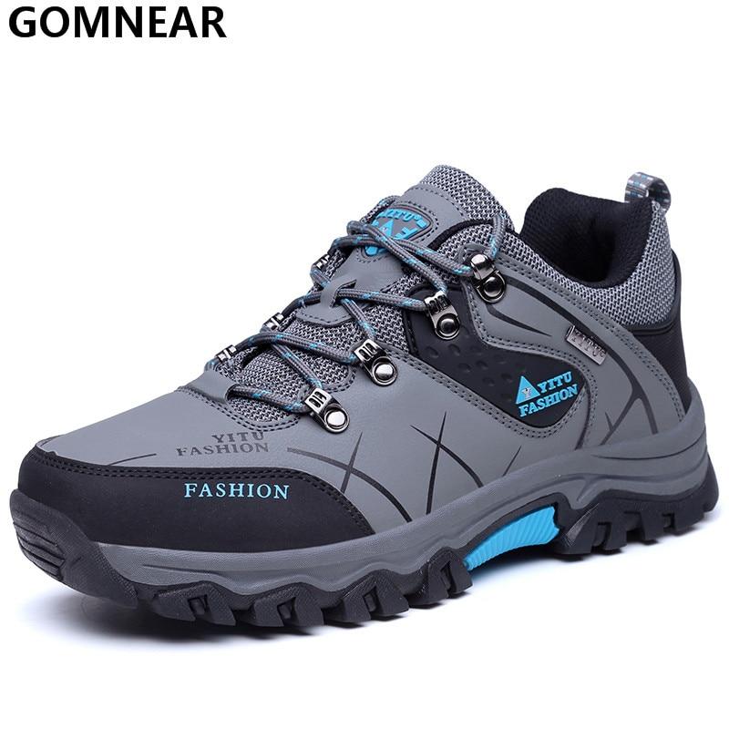 GOMNEAR Mannen top qulity antislip wandelschoenen klimmen berg athletic schoenen man trekking outdoor sportschoenen zapatos heren