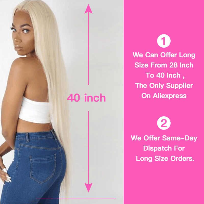 Koningin Schoonheid 1/3/4 613 Blonde Hair Extensions Braziliaanse Hair Weave Bundels Straight Remy Menselijk Haar 26 28 30 32 34 36 38 40 Inch