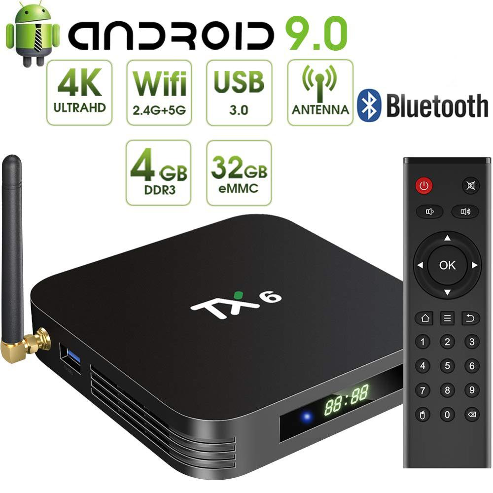 Android9.0 Tanix TX6 Smart IPTV TV Box 4G64G Dual WiFi Media Player 4K HD Tvbox Allwinner H6 Televisor Boxes 3D HDTV Set Top Box
