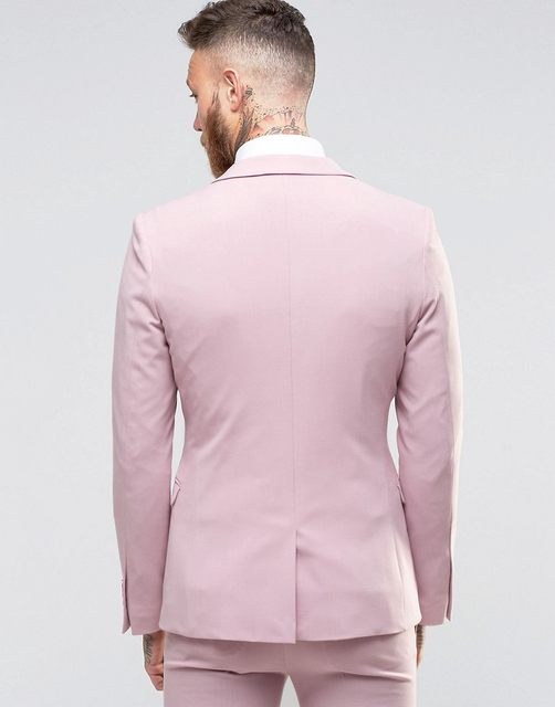 Online Shop 2016 New Arrival Pink Beach Wedding Prom Suits For Men 2 ...