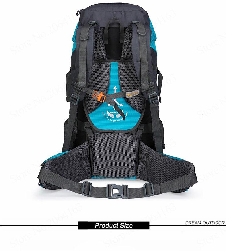 grande capacidade de trekking mochila ao ar