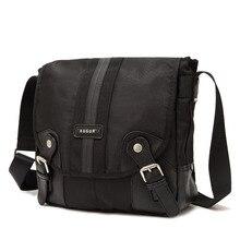 Black Stylish Vintage Men Business Oxford Shoulder Bags Waterproof Durable Crossbody Bags Travel Bags