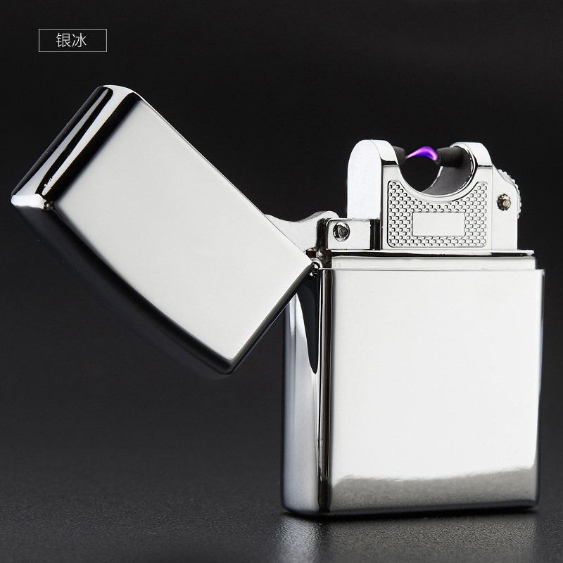 High Quality Metal font b USB b font Arc Lighter Electric Pulse Arc Lighter can put