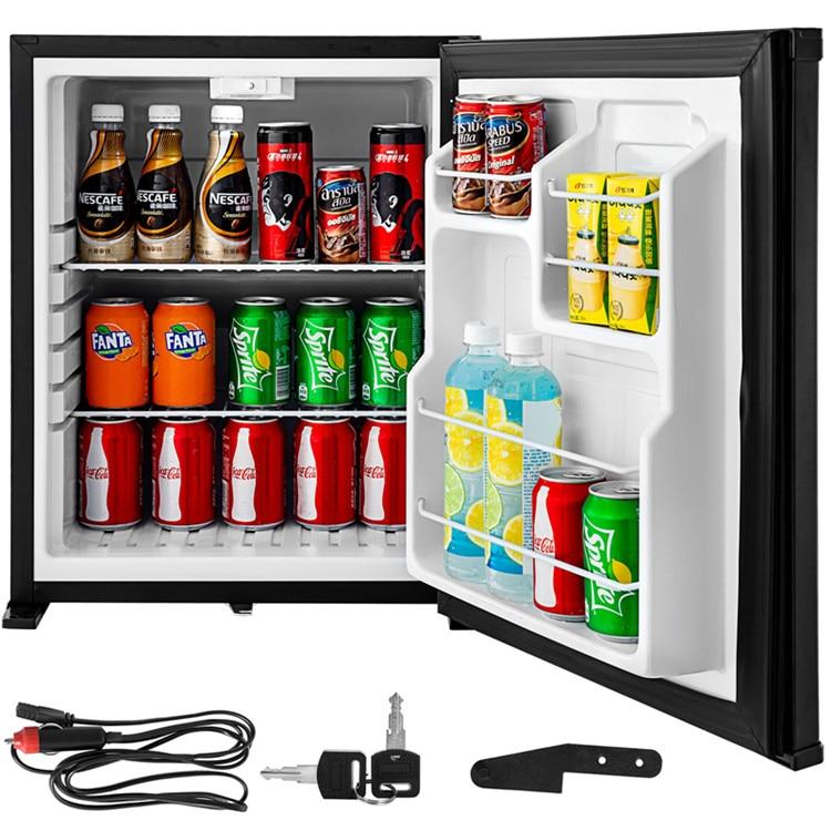 Portable Absorption Fridge Refrigerator 12V Mini Cooler Mute Operation 50L 110V AC/12V DC 1.8 Cu. Ft.