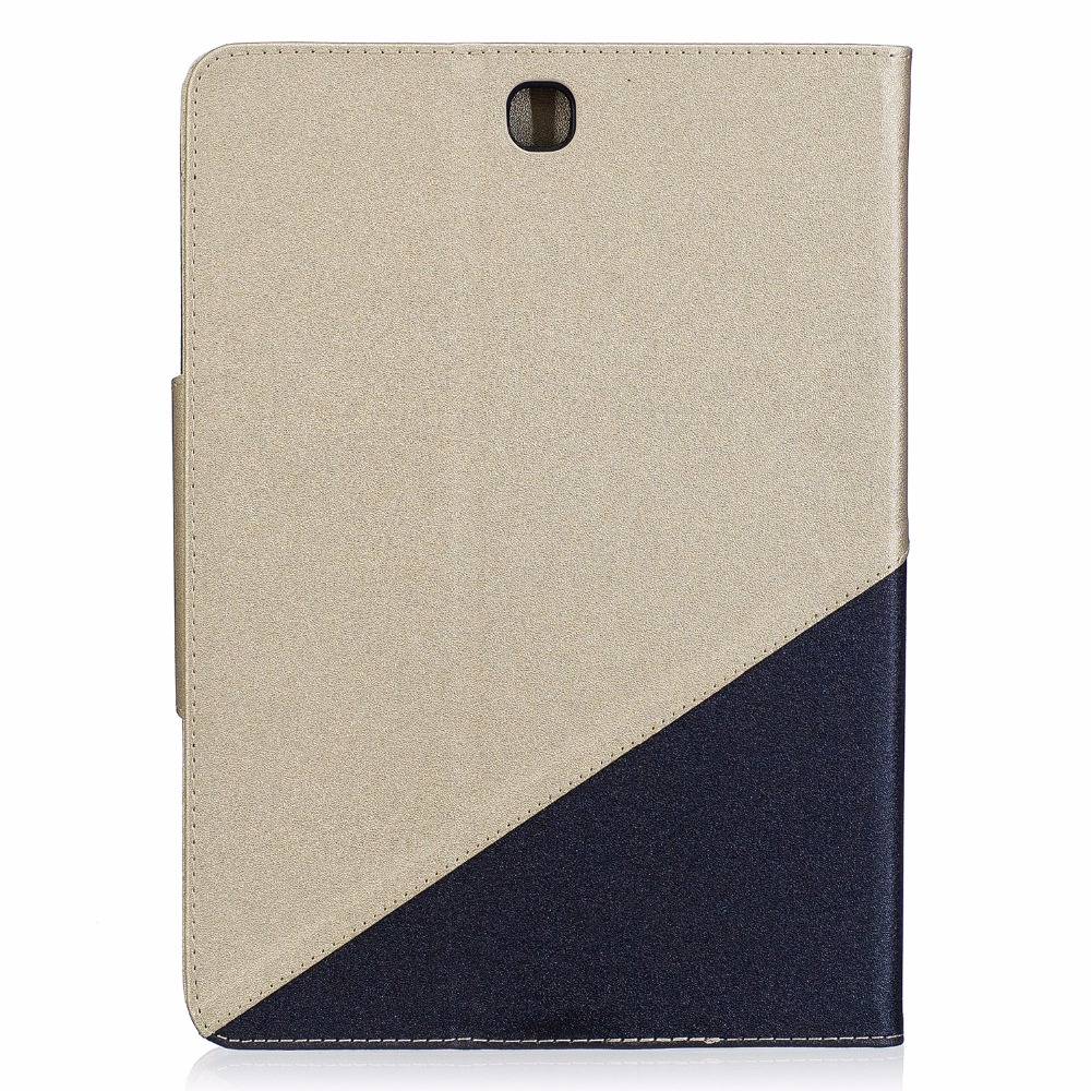 Tablet Cover Case For Samsung Galaxy Tab A 9.7 T550 T555 P550 P555 SM-T550 Fashion Patchwork Pu Leather Soft Silicone Funda Capa
