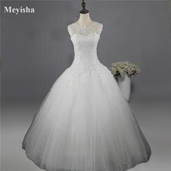ZJ9036 2017 кружева белого цвета и цвета слоновой кости платья свадебное платье для невесты Большие размеры Макси клиент сделал размер 4681012 14 16 18