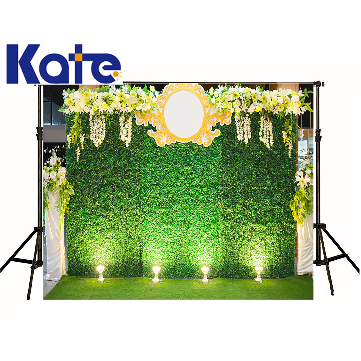 kate Wedding Photographic Background Stage Lighting Flowers Grass Green Background Plants Photocall Backdrops Kids Wedding leaves from paradise – the cult of john the evangelist at the dominican convert of paradies bei soest