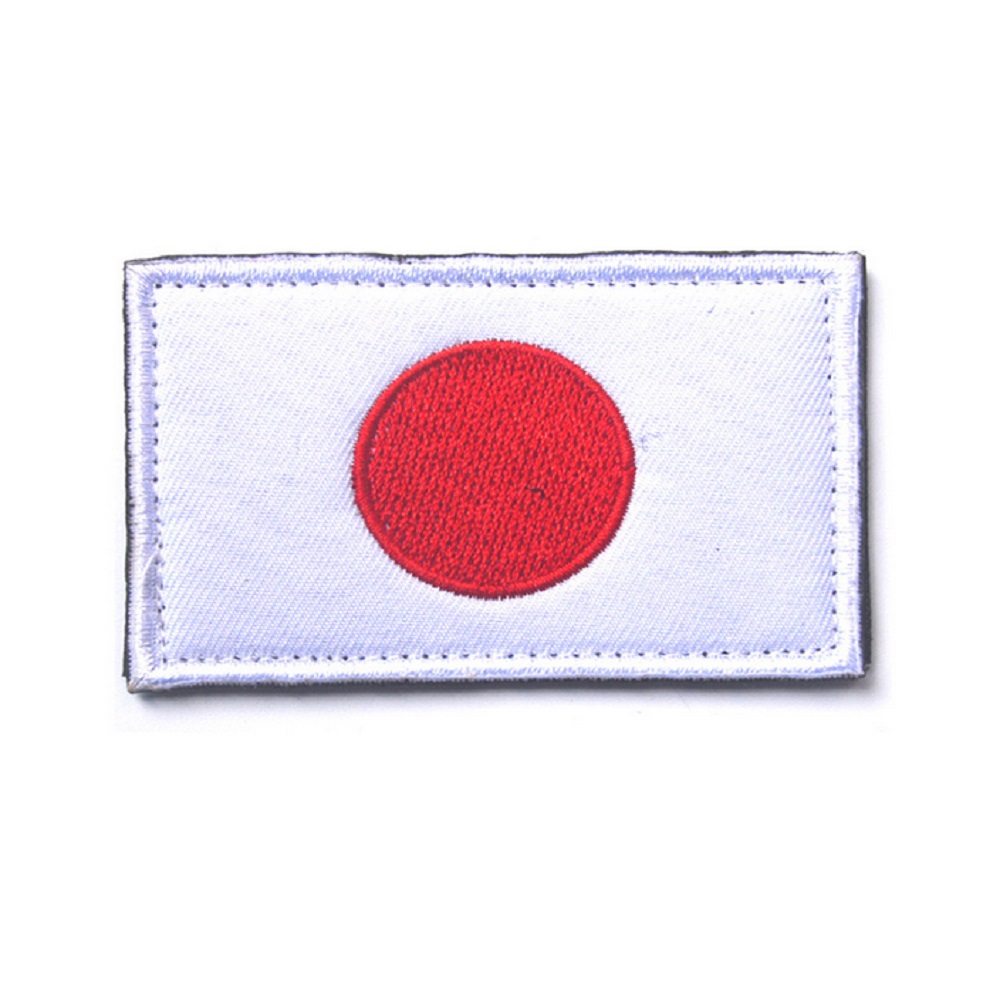 3pcs lot japanese flag embroidered patches military tactical