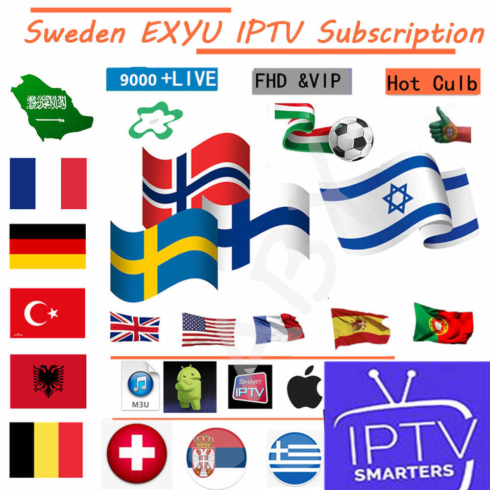 IPTV Spain French Arabic Belgium German Italy UK IPTV M3U Subscription 4 Android Smart TV MAG Enigma2 free test 24 hours