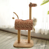 Height 105 cm Cat Tree High Stability Cat Climbing Scratching Frame with Hanging Ball cat scratcher Cat House HW101
