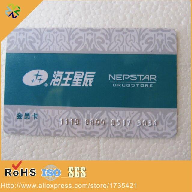 85554076mm En Gros PVC Carte De Visite Avec Gaufrage Nombre