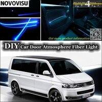 NOVOVISU Voor Volkswagen VW Transporter T5 Caravelle Multivan interieur Omgevingslicht Sfeer Glasvezel Lichten Binnen Deur