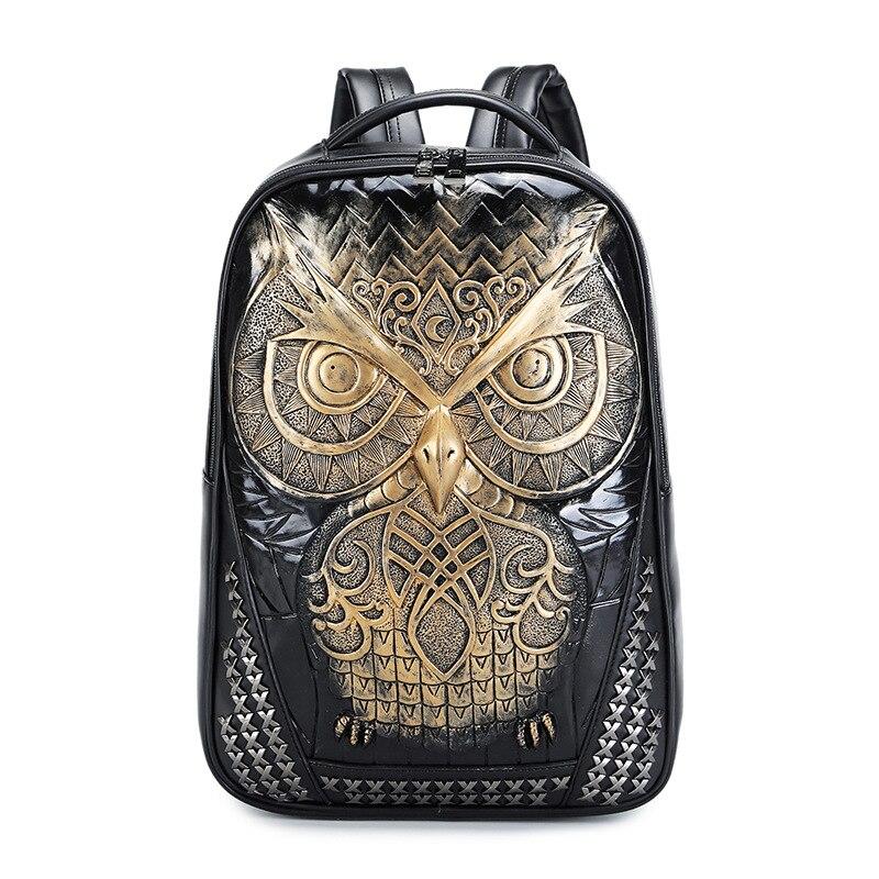 DIOMO Cool 3D hibou sac à dos grands sacs à dos d'ordinateur portable pour les femmes et les hommes sac à dos de haute qualité hommes sacs à dos - 2