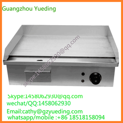 Kitchen Equipment Counter Top BBQ Gas Griddle Cooker / Stainless Steel Flat Plate electric Griddle for Sale