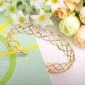 Moda Malha de Aço Pulseiras De Cobre Joias ouro Ajustável Amor Pulseiras Pulseiras Para Mulher Famosa Marca de Jóias Bijoux Femme