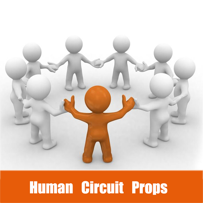 Room-Props Magnet-Lock Escape Open To 12V Hold-Hands Human-Circuit-Prop Hand-In