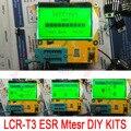 Nova Lcd DIY kits LCR-T3 Mega328 Transistor Tester Diode Triode capacitor + Medidor de LCR ESR indutância + resistor + SCR