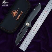 LEMIFSHE MT Warhound Flipper Folding Knife D2 blade TC4 Titanium handle Camping Hunting Outdoor survival Knives EDC Tools цены онлайн