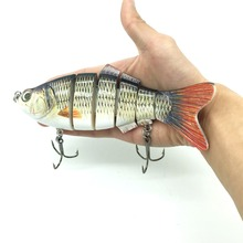large lure 20CM 110g Multi Jointed Fishing Lure 3D-Eyes Hard Bait With Sharp Hook Baits For Ocean Lake Tackle