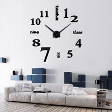 Wall Clock Quartz Clocks Fashion Watches 3d Real Big Rushed Mirror Sticker Diy Living Room Decor Large Size Acrylic