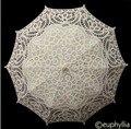 Branco elegante Lace Umbrella Parasol Longo Braço Fabullous Gótico Guarda-chuva Guarda-chuva De Noiva Para O Casamento