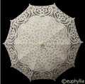 Elegant White Lace Umbrella Parasol Long Arm Bridal Umbrella Fabullous Gothic Umbrella For Wedding