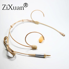 Professional Ear Hanging Headset Headworn Microphone Condenser Hypercardioid Mic for Sennheiser Shure Wireless Microphone System